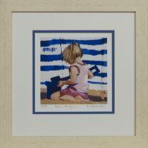 BLUE STRIPES, A PRINT BY LIN PATTULLO