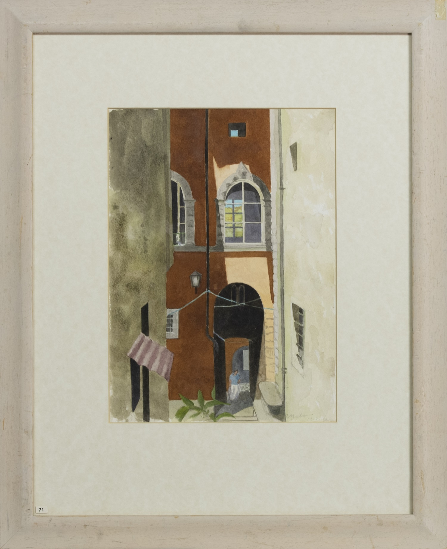 BARGA, A WATERCOLOURB BY TOM MABON