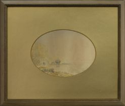 HASTINGS, A WATERCOLOUR BY C T DICKSON