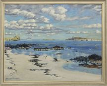 SCOTTISH SHORE, AN OIL BY EDWARD PURSELL