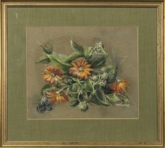MARIGOLDS, A PASTEL BY MONICA BERLEY