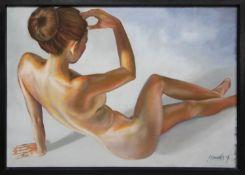AN UNTITLED OIL BY LYNN HOWARTH