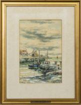 COASTAL SCENES, A PAIR OF WATERCOLOURS BY JOHN HAMILTON GLASS