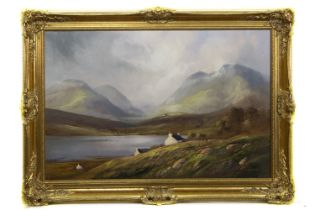 HILLS OF HARRIS, OUTER HEBRIDES, AN OIL BY JACK MOULD