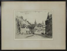 TWO ETCHINGS AND A WATERCOLOUR