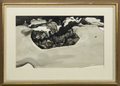 BEACH FIRE, A WATERCOLOUR BY DAVID BRUCE WALKER