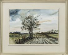 IN THE FIELD, A WATERCOLOUR BY H F MITCHELL