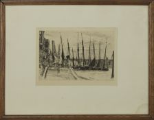 AT DOCK, AN ETCHING BY JAMES ABBOTT MCNEILL WHISTLER