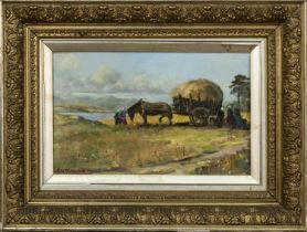 A PAIR OF HARVEST SCENES BY R W MCLACHLAN