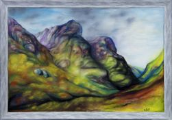 THE MOUNTAINS OF GLENCOE, AN OIL BY KEVIN O'ROURKE