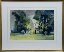 OLD MANSE AT TOWIE, A WATERCOLOUR BY ALISON ROSS EWAN