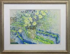 SPLASH OF FLOWERS, A GOUACHE BY SYLVIA ALLEN