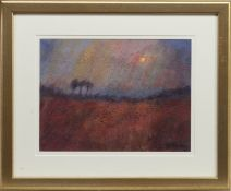 RED FIELD, AN ACRYLIC BY JEAN PORTER