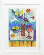 GOBLET AND RED JUG, A PASTEL BY ANNE MENDELOW