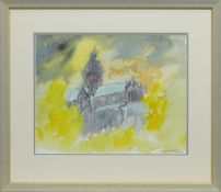 GLASGOW CATHEDRAL, A WATERCOLOUR BY ANDREW BROWN