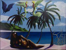 GAUGUIN'S GIRL, AN OIL BY EDDIE WOLFRAM