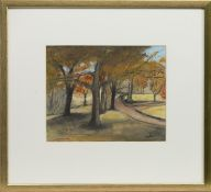 AUTUMN TREES, A MIXED MEDIA BY STEPHANIE DEES RSW
