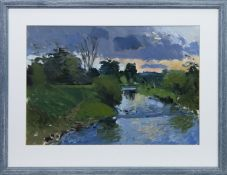 OVER THE RIVER, AN OIL BY DOUGLAS LENNOX