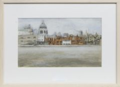 THE THAMES, A MIXED MEDIA BY STEPHANIE DEES RSW