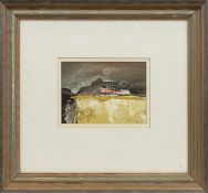 AUTUMN MOON, A GOUACHE BY GORDON HOPE WYLLIE
