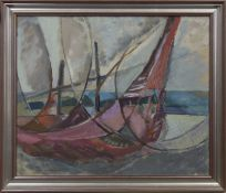 FISHING NETS, AN OIL BY JEAN DONALDSON