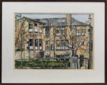 THE HOUSE AT MIRLEES DRIVE, A MIXED MEDIA BY DAVID TONER