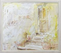 THE PORCH, AN OIL BY JO VANTOURNHOUT