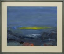 SOLWAY SUNSET, A GOUACHE BY JEAN RODGER