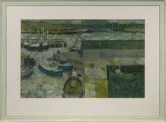 STOMNESS HARBOUR, AN OIL BY MARK SCADDING