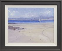 SAILING OFF MULL, AN OIL BY PAUL ROTH