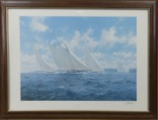 THE BIG CLASS - 1930, A SIGNED LIMITED EDITION PRINT BY J. STEVEN DEWS