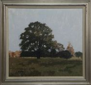 DAWN LIGHT AND THE OLD TREE, AN OIL BY JOHN KINGSLEY