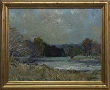 FISHERMAN - THE HIGHLANDS, RIVER CONON, AN OIL BY JOHN MCKINNON CRAWFORD