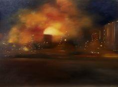 ATMOSPHERIC LIGHTS, AN OIL BY LESLEY ANNE DERKS