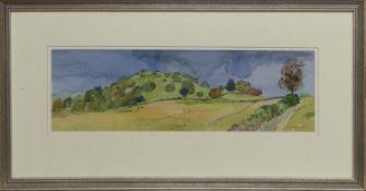DUNCRYNE HILL, GARTOCHARN, A WATERCOLOUR BY TOM HOVELL SHANKS