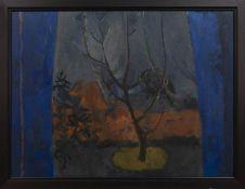 WINTER VIEW, GARDEN 1996, AN OIL BY DONALD MORRISON BUYERS