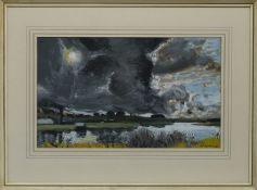 STORMY SKIES, AN OIL BY WILLIAM CADENHEAD