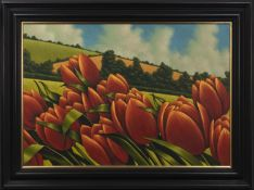 TULIPS, A LARGE OIL BY GRAHAM MCKEAN