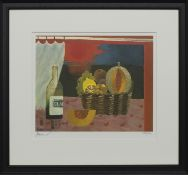 RED SUNSET, A PRINT BY MARY FEDDEN
