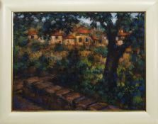 SPAIN, AN OIL BY JOHN MACKIE