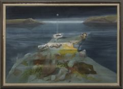 SHALLOWS, A WATERCOLOUR BY DANNY FERGUSON