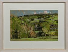 VALLEY TOWN, A PASTEL BY DOUGLAS LENNOX
