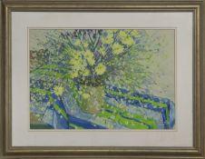 A SPLASH OF FLOWERS, A GOUACHE BY SYLVIA ALLEN