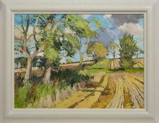 BYRSON'S FIELDS, LATE SUMMER, AN OIL BY DOUGLAS LENNOX