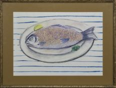 FISH SUPPER, A MIXED MEDIA BY LAURA MURPHY