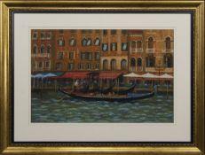 CANAL SCENE, A PASTEL BY JOHN MACKIE