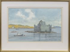 CASTLE BAY, ISLE OF BARRA, A WATERCOLOUR BY SIR CHARLES MADDEN