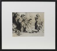 THE TINKER, AN ETCHING BY WILLIAM STRANG
