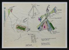 ORIGINAL THEATRE COSTUME DESIGN BY ROBERT ST JOHN ROPER