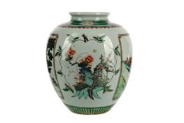 AN EARLY 20TH CENTURY CHINESE FAMILLE VERTE VASE
